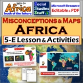 Africa Culture & Geography Intro 5-E Lesson with Fun Activities