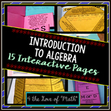 Intro to Algebra: Algebra Interactive Notebook Pages