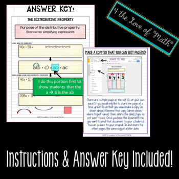 Intro to Algebra: Digital Interactive Notebook Pages