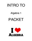 Intro to Algebra I Packet