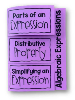Intro to Algebraic Expressions (Foldable)