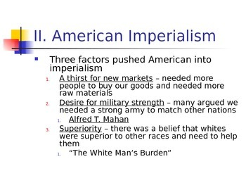 Intro to American Imperialism
