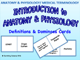 Intro to Anatomy & Physiology/ Medical Terminology Domino Cards Game