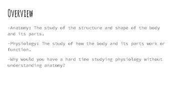 Intro to Anatomy Presentation