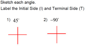 Intro to Angles & Radians - LESSON BUNDLE