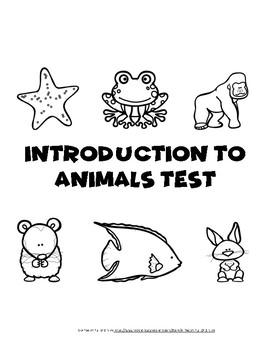 Intro to Animals Test