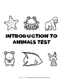 Intro to Animals Test