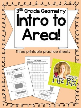 Intro to Area of Rectangles {3 Practice Pages!}