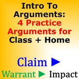 Intro to Arguments Activity - Classwork and Homework