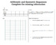 Intro to Arithmetic and Geometric Sequences Complete Bundled Unit Lessons 1-6