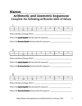 Intro to Arithmetic and Geometric Sequences Lesson 4 of 6