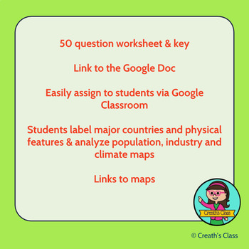 Intro to Asia: Map Activity