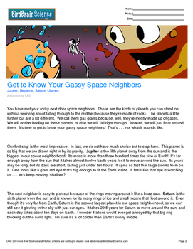 Intro to Astro, Get to Know Your Gassy Space Neighbors - E