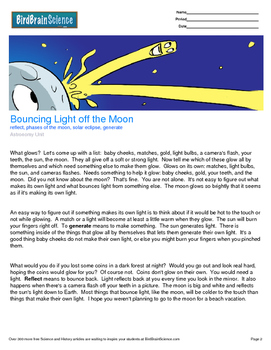 Intro to Astronomy, Bouncing Light Off the Moon - Engaging Science Reading