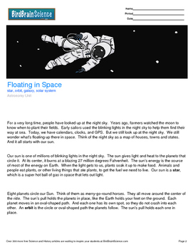 Intro to Astronomy, Floating in Space - Engaging Science Reading