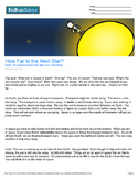 Intro to Astronomy, How Far to The Next Star? - Engaging Science Reading