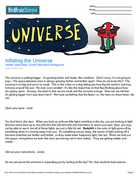 Intro to Astronomy, Inflating the Universe - Engaging Science Reading