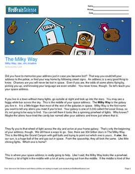 Intro to Astronomy, The Milky Way - Engaging Science Reading