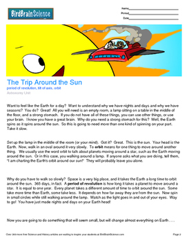 Intro to Astronomy, The Trip Around the Sun - Engaging Sci