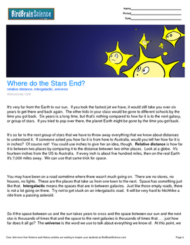 Intro to Astronomy, Where do the Stars End? - Engaging Science Reading