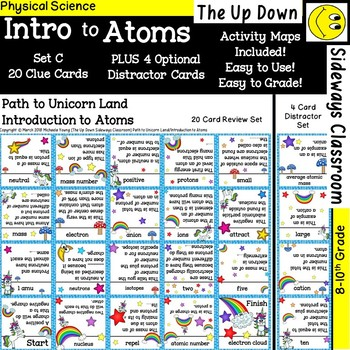 Intro to Atoms- Domino Path Matching (Leprechaun/Unicorn Theme Mini-Bundle)