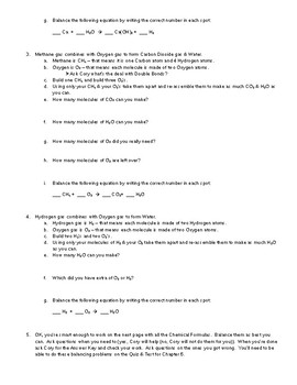 Intro to Balancing Chemical Equations