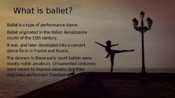 Intro to Ballet Powerpoint
