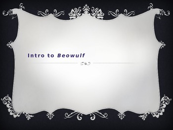 Intro to Beowulf Powerpoint