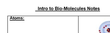 Intro to BioMolecules NOTES PAGE
