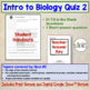 Introduction to Biology: Scientific Method, Microscope Set of 4 Quizzes