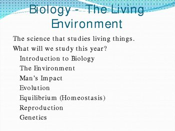 Intro to Biology and Scientific Method PowerPoint Presentation Lesson