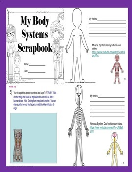Intro to Body Structures Biology Quiz/Assessment/Homework for SPED/ELL