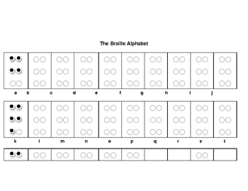 Intro to Braille (My name in Braille)