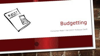 intro to budgeting powerpoint presentation by victoria swift tpt