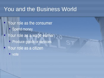 Intro. to Business: Business in Today's World PowerPoint
