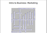 Intro to Business: Marketing Crossword Puzzle