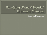 Intro to Business: Wants, Needs & Choices