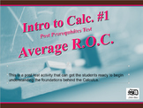 Intro. to Calc. #1 (Average Rate of Change)