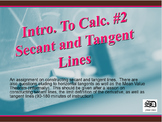 Intro. to Calc. #2 (Secant and Tangent Lines)