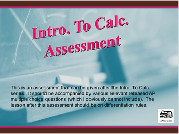 Intro to Calculus (Assessment)