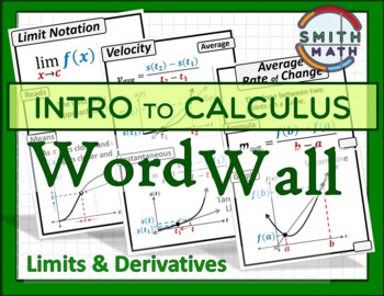 Intro to Calculus Word Wall