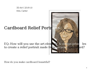 Intro to Cardboard Relief Portraits