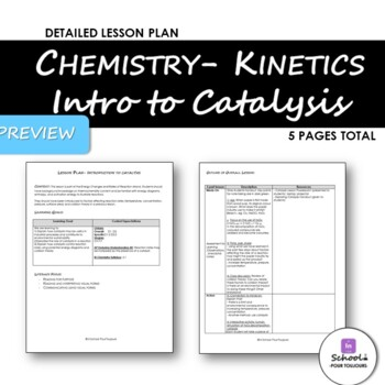 Intro to Catalysis- No Prep- Complete Lesson & Powerpoint