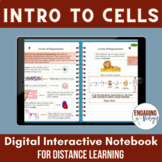 Intro to Cells Digital Interactive Notebook for Distance Learning