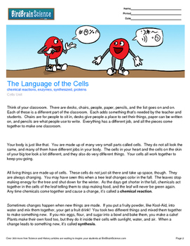 Intro to Cells, The Language of the Cells - Engaging Science Reading