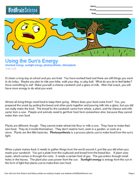 Intro to Cells, Using the Sun's Energy - Engaging Science Reading