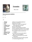 Intro to Ceramics lesson plan, handout, grading rubric