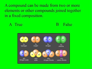 """Intro. to Chemistry Lesson I ActivInspire Review """"Properties of Matter"""""""