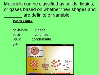 """Intro. to Chemistry Lesson I & II ActivInspire Review """"Matter & Gas Laws"""""""