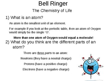 Chemistry Atomic Structure, Periodic Table, and Bonding PowerPoint